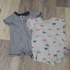 2 Carter's Infant Boys Rompers